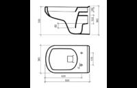 Унитаз подвесной с сиденьем плавнопадающим Mero Kfa Armatura 3012021-00-176B1-PP