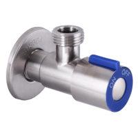 Кран из нержавеющей стали для подключения сантехприборов синий 1/2×1/2 VAL-01 Mixxus SS0048
