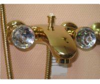 Смеситель для ванны (золото, ручка Fenice) Axo Bugnatese AXODO602F