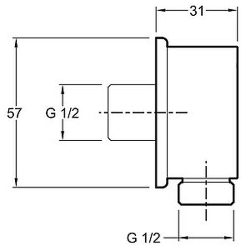 Шланговое подсоединение Jacob Delafon (E75142-CP)