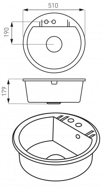 Кухонная мойка Ferro Mezzo II (DRGM1/51BA)