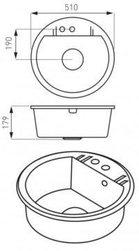 Кухонная мойка Ferro Mezzo II (DRGM1/51GA)