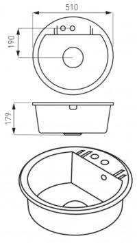 Кухонная мойка Ferro Mezzo II (DRGM1/51SA)