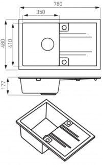 Кухонная мойка Ferro Mezzo II (DRGM48/78BA)