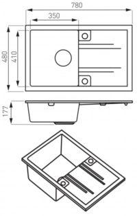 Кухонная мойка Ferro Mezzo II (DRGM48/78GA)