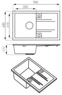 Кухонная мойка Ferro Mezzo II (DRGM48/78SA)