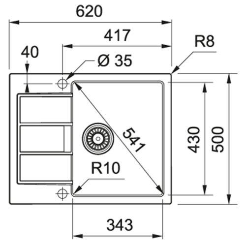 Кухонная мойка Franke Sirius S2D 611-62 (143.0627.288)