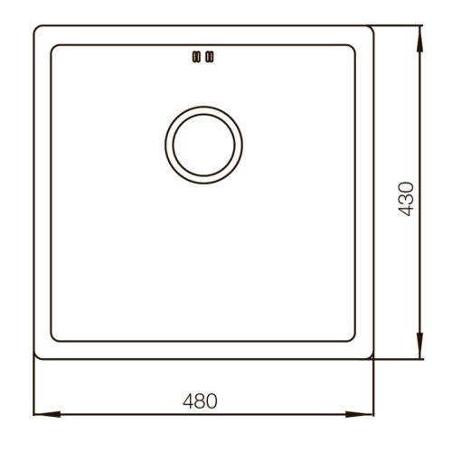 Мойка MX4843-220×1.0-Satin Mixxus MX0556