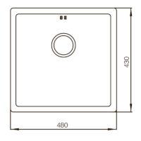 Мойка MX4843-220×1.0-PVD-Bronze Mixxus MX0558