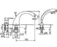 Смеситель для ванны на 3 отверстия Кварц Kfa Armatura 4205-210-00