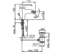 Смеситель для биде Кварц Kfa Armatura 4207-015-00
