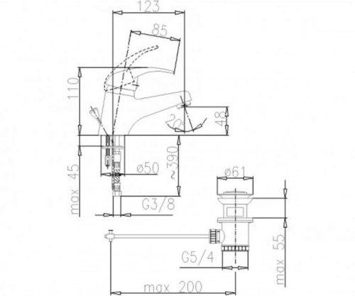 Смеситель для раковины Нефрит Kfa Armatura 502-815-04