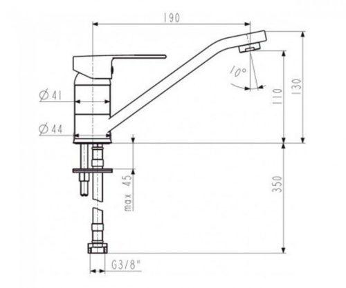 Смеситель для раковины L=90мм Сеелит Kfa Armatura 5813-715-00