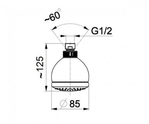 Душевая головка на 3 режима Kfa Armatura 842-320-00