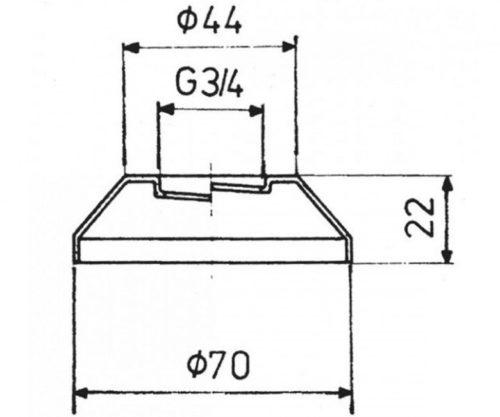 Розетка для смесителя 2 шт Kfa Armatura 974-101-00-BL