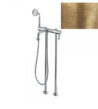 Смеситель для ванны напольный (бронза, стандартная ручка) Athena Bugnatese ATHBR8502P