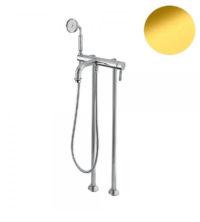 Смеситель для ванны напольный (золото, стандартная ручка) Athena Bugnatese ATHDO8502P