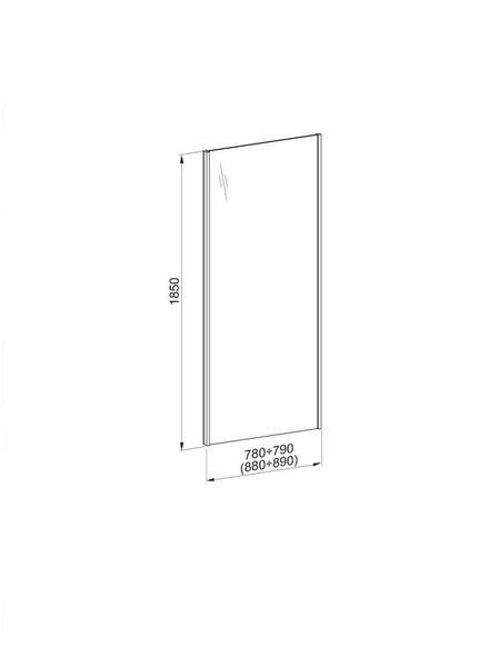 Душевая дверь Aquaform Nigra Aqua (103-40090)