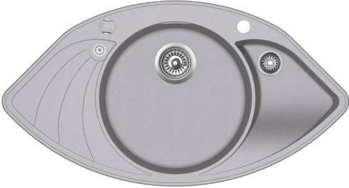 Гранитная мойка AquaSanita SCP151AW 221 Light grey
