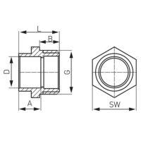 Переходной ниппель 15×3/8″ Ferro (4243-1500)