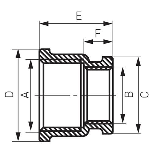 Редукционная муфта 3/4″x1/2″ Ferro (M09Z)
