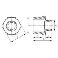 Редукционный ниппель 1″x3/4″ Ferro (N13Z)