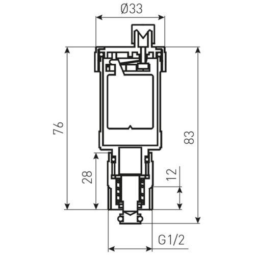 Автоматический воздухоотводчик 1/2″ Ferro (O15AS2)