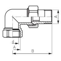 Латунная соединительная муфта угловая 1/2″ Ferro (SG5)