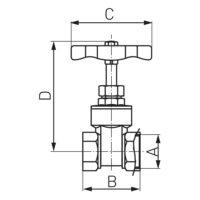 Кран для води 1/2″ Ferro (Z01W)