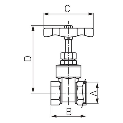 Кран для води 1 Ferro (Z03)