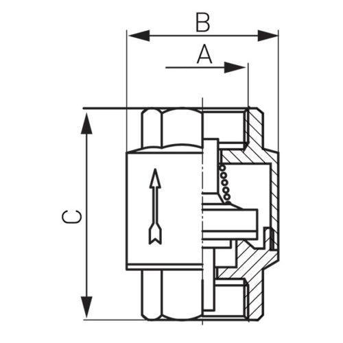 Возвратный клапан 1″ Ferro (ZZ3)