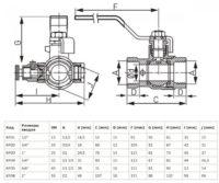 Кран шаровой 1″ Ferro (KPO3)