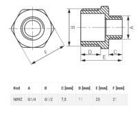 Редукционный ниппель 1/4″ 1/2″ Ferro (N09ZW)