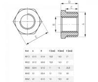 Латунный переходник 3/4х1/2 (R03Z)
