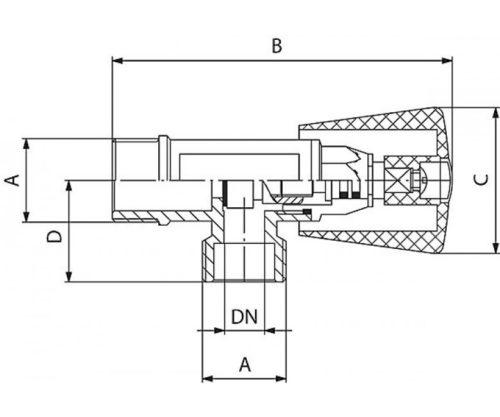 Угловой кран для воды 1/2″ Ferro (Z220)