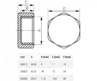 Заглушка латунная 1/2″ Ferro (ZAS2Z)