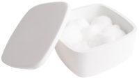 Коробочка косметическая с крышечкой 120х120х55мм VOLLE SOLID SURFACE (18-40-210)