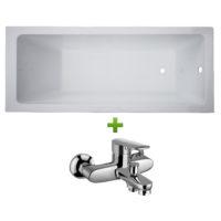 Ванна 170х70 см без ножек и смеситель Volle Libra (set20210204)