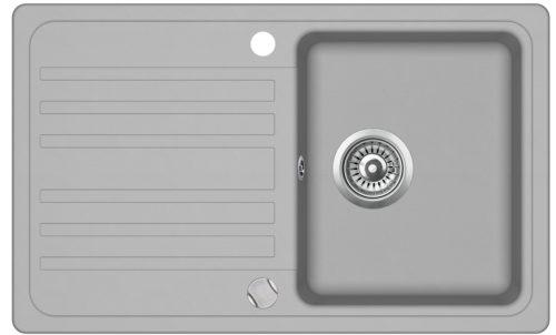 Гранитная мойка AquaSanita SQ101AW 221 Light grey