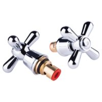 Кран-букса Lidz (CRM) 15 000 00 керамика 1/2″ с ручкой Dominox (пара) SD00041630