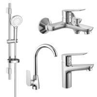 Набор смесителей для ванны и кухни Imprese (kit30094)