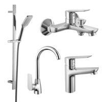 Набор смесителей для ванны и кухни Imprese (kit30095)