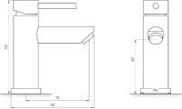 Смеситель для умывальника Globus Lux ALPEN SBT1-101-BB