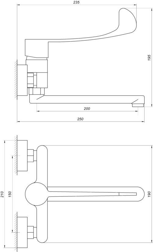 Смеситель для кухни TOPAZ CLINIC TCL-15044