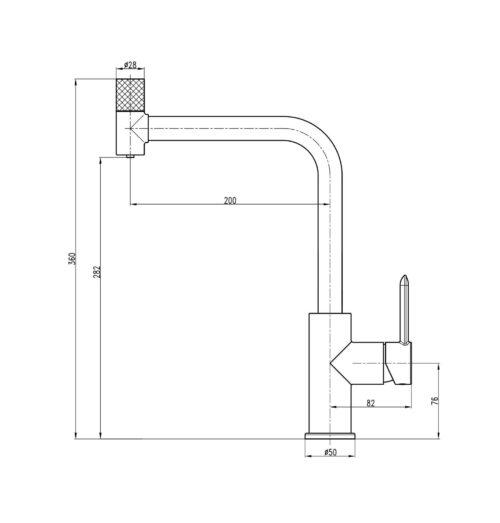 Смеситель для кухни под осмос TOPAZ CORSICA TC-8802-H48-PVD
