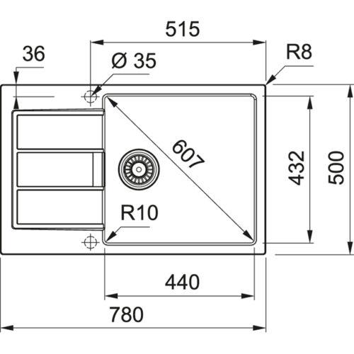 Мойка Franke S2D 611-78 XL (143.0621.339) серый