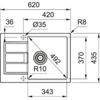 Мойка Franke S2D Slim 611-62 (143.0631.540) маскарпоне