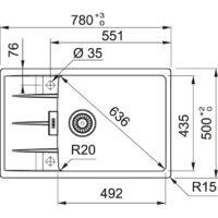 Мойка Franke Centro CNG 611-78 XL (114.0630.434) черный матовый