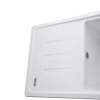 Гранитная мойка Globus Lux LUGANO белый 650х500мм-А0007