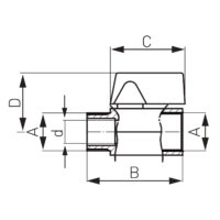 Кран шаровой мини FERRO (KR2W)
